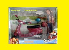 "My Scene Vespa Playset 2003 with Chelsea doll - Scooter for Barbie and 12"" dolls"
