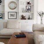 Love the white built-ins