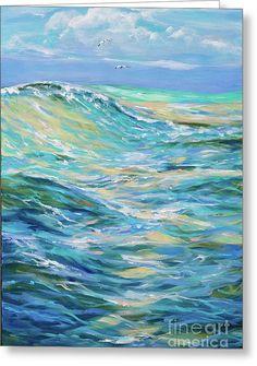 Bodysurfing North Greeting Card by Linda Olsen