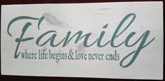 Family by akawoodsigns on Etsy White Stain, Rustic Wood Signs, Im Not Perfect, Hand Painted, Etsy Shop, Lettering, Messages, I'm Not Perfect, Drawing Letters