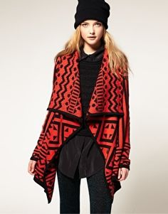 ASOS Blanket Cardigan In Aztec Pattern - StyleSays