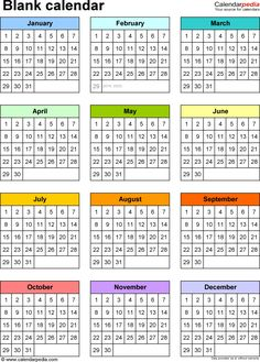 Blank Calendars – Free Printable Microsoft Word Templates inside Month At A Glance Blank Calendar Template