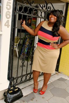 Plus size fashions styled by Musings of a Curvy Lady