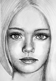 Pretty Girl Sketch by PMucks.deviantart… on Pretty Girl Sketch by PMucks.deviantart… on Girl Drawing Sketches, Face Sketch, Girl Face Drawing, Portrait Sketches, Pencil Art Drawings, Face Art, Cute Drawings, Animal Drawings, Drawing Faces
