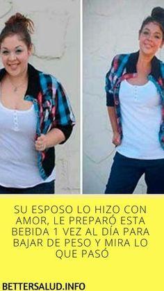 SU #ESPOSO LO HIZO CON #AMOR, LE #PREPARÓ ESTA #BEBIDA 1 VEZ AL DÍA PARA #BAJAR DE #PESO Y MIRA LO QUE #PASÓ Hair Growth Home Remedies, Home Remedies For Acne, Best Weight Loss, Weight Loss Tips, Best Cardio Workout, Bad Habits, Ways To Lose Weight, Health Tips, Beauty Hacks