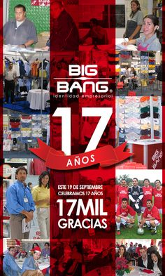 Sin la colaboración y confianza de todos los que conforman este gran #equipo BIGBANG no estaría hoy #celebrando 17 años de generar #empleos, de confiar mutuamente y crecer de la mano. El mundo no es de los soñadores, el mundo es de quienes mediante #trabajo hacen que sus sueños se hagan realidad. Felicidades BIGBANG, Felicidades a nuestro equipo de colaboradores. www.bigbang.com.mx #Empresas #distribuidores #Camisas #uniformes #Aniversario #Blusas #Lifestyle #corporativo