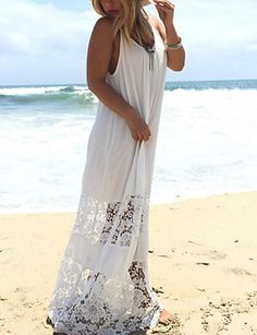 Cheap strapless beach dress, Buy Quality maxi dress directly from China beach dress Suppliers: 5 Colors ZANZEA 2017 Summer Style Women Lace Casual Solid Loose Long Maxi Dress Sexy Strapless Beach Dresses Plus Size Vestidos Long White Maxi Dress, Sexy Maxi Dress, Boho Dress, Sexy Dresses, Lace Dress, Lace Maxi, White Dress, Bohemian Dresses, Casual Dresses