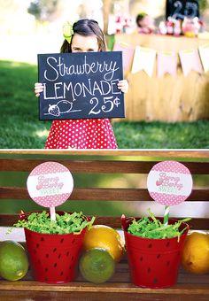 Berry Cute Strawberry Lemonade Stand!