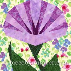 Looking for your next project? You're going to love Morning Glory Paper Pieced Quilt Block by designer PieceByNumber. - via @Craftsy