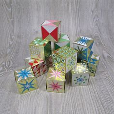 Vintage 1950's Box Christmas Ornaments by hauntedlampvintage, $48.00