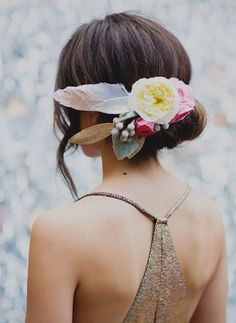 southwest bohemian hair piece