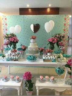 60 Awesome Engagement Party Decor & Ideas to Organize Engagement Party Decorations, Table Decorations, Shower Party, Bridal Shower, Holidays And Events, Dessert Table, Event Decor, Tea Party, Birthday Parties