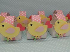 Cestinha de doce personalizada com passarinho de scrapbook. Varias cores.  Quantidade minima: 50 unidades R$ 1,70