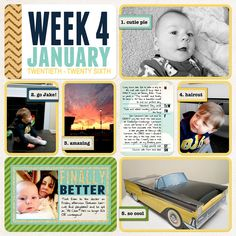 Project Life (Week 4, page 1): Finally Better - Scrapbook.com