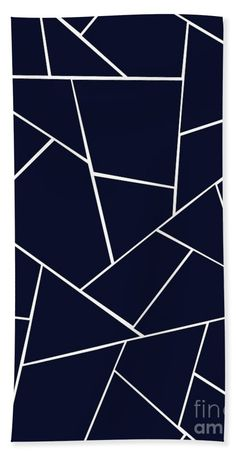 Navy Blue Geometric Glam Towel (Beach Towel x by Anitas and Bellas Art. Bedroom False Ceiling Design, Bedroom Wall Designs, Trellis Wallpaper, Ocean Wallpaper, Geometric Wall Paint, Diy Wall Painting, Home Room Design, Stained Glass Patterns, Painting Patterns