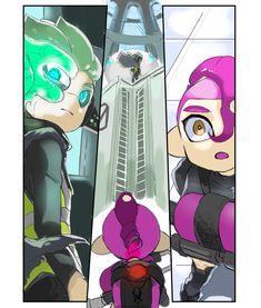 Tweet di 柚野実(ゆのみ)原稿中の為低浮上 (@yunominsp) | Twitter con contenuti Splatoon 2 Art, Splatoon Comics, Callie And Marie, Otaku, Cute Games, Kid Memes, Video Game Art, Video Games, Amazing Art