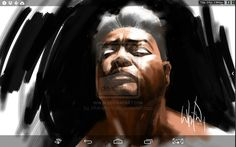 A self-portrait by WhilcePortacio using DirectStylus 2 on SHIELD Tablet with ArtFlow