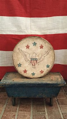 Still Life Pictures, I Love America, Country Blue, Primitive Folk Art, Wood Bowls, Old Glory, Red White Blue, American Art, Colonial Decorating