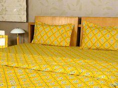 Yellow Bed Sheet Set 4 Pcs Set