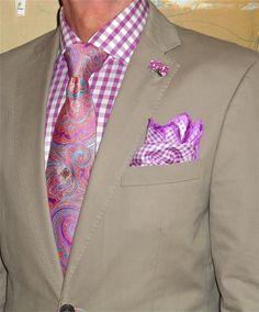 Calvin Klein blazer, Tommy Hilfiger shirt, Ted Baker tie…