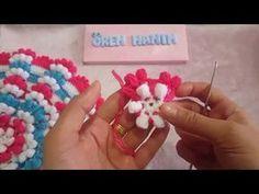 Pıtırcık Kare Lif Yapımı - YouTube Crochet Crafts, Crochet Doilies, Yarn Crafts, Crochet Flowers, Diy Crafts, Knitting Videos, Crochet Videos, Yarn Projects, Crochet Projects