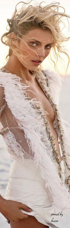 Boho Style ~ Chanel Jacket - photography Max Doyle - model Anja Rubik