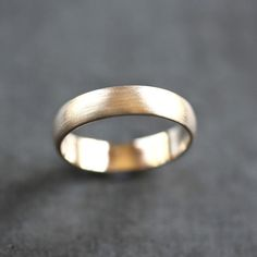 Men's Gold Wedding Band Recycled 14k Yellow Gold 5mm by TheSlyFox, $635.00