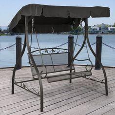 Mainstays Jefferson Wrought Iron Outdoor Swing Seats 2