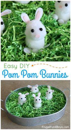 Pom Pom Bunnies Spring Craft