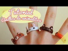 【TUTORIAL】Cómo hacer anillos de animalitos! ❤ (DIY / How to make a cute animal rings ❤) - YouTube