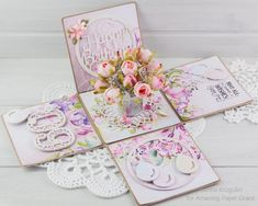 Today I would like to share an exploding box for 60th Birthday. I decorated the box with elements from Spellbinders S5-345 - Layered H...