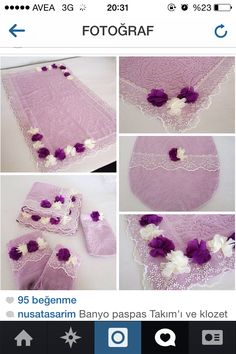 This Pin was discovered by nur Ribon Embroidery, Sewing Tutorials, Sewing Patterns, Home Crafts, Diy And Crafts, Lavender Bags, Decorative Towels, Penny Rugs, Diy Pillows