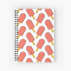 'Red Ice Cream' Spiral Notebook by MadoMade Ice Cream Design, School Items, School Essentials, School Fun, Iphone Wallet, Some Fun, Spiral, Notebook, Red