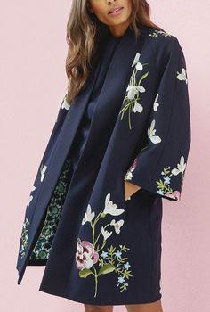 Ted Baker Casual jackets for Women Kimono Outfit, Kimono Jacket, Kimono Fashion, Hijab Fashion, Fashion Dresses, Kimono Cardigan, Tokyo Fashion, Kimono Style Dress, Print Jacket