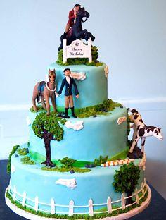 horse jumping birthday cake - Google Search