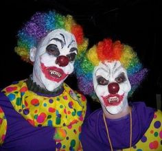 How to ?: How to paint scary clown faces