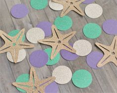 Paper Confetti Table Confetti Mermaid Party by PaperedWhiskers