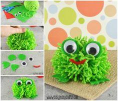How to make a Pom Pom Frog