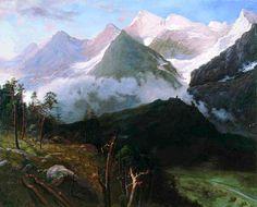 Киселев А.А. «Горный пейзаж (Кавказские вершины)»