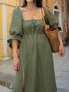 Trendy Dresses, Women's Fashion Dresses, Diy Fashion, Casual Dresses, Summer Dresses, Fashion Sewing, Linen Dress Pattern, Dress Patterns, Clothing Patterns