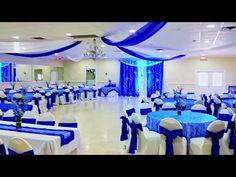 Royal Blue Wedding Decorations, Quinceanera Decorations, Blue Silver Weddings, Blue And Silver, Wedding Reception Layout, Wedding Day, Princess Wedding Dresses, Dream Wedding Dresses, Color Azul Rey