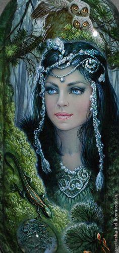A 55 pieces jigsaw puzzle from Jigidi Fantasy Art Women, Beautiful Fantasy Art, Beautiful Fairies, Russian Folk, Russian Art, Russian Image, Fairy Art, Fantastic Art, Fantasy Artwork