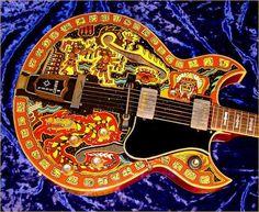 Mayan - illustrated guitar