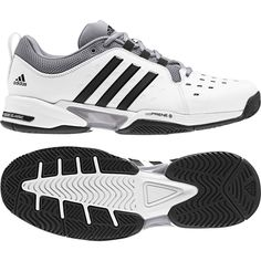 brand new 9ed9f 28d70 adidas Barricade Classic Wide Mens Tennis Shoes Racquet Racket White NWT  BY2920