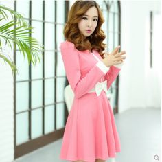 #workdress #onepiece #dress #officewear #cute #pink Suitable for work and outside of work. Visit www.facebook.com/simpleshoponline for other fashion looks