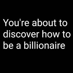 ManifestU: You're about to discover how to be a billionaire