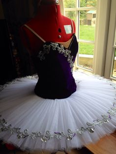 Blue ballet tutu.  Navy blue ballet tutu. Pancake skirt with silver trim.  Made by Sewn by Sara Ballet Tutus.