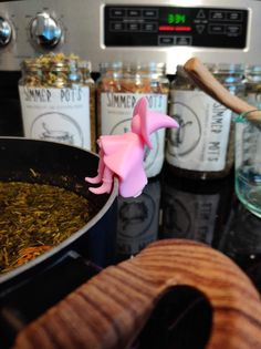 Kitchen witch spoon rest and lid holder. Super cute. Pink color available. Witches Kitchen, Magic Store, Witch Aesthetic, Spoon Rest, Farm House, Pink Color, Holiday Ideas, Kitchen Ideas, Future