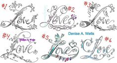 Love Tattoo Designs by Denise A. Wells