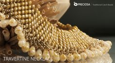 Travertine Necklace - free PDF from Preciosa-ornela  #Seed #Bead #Tutorials